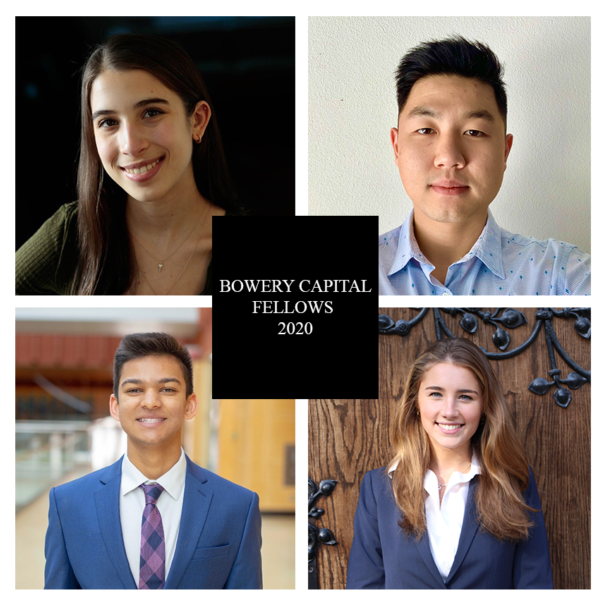 Announcing our 2020 Bowery Capital Fellows!