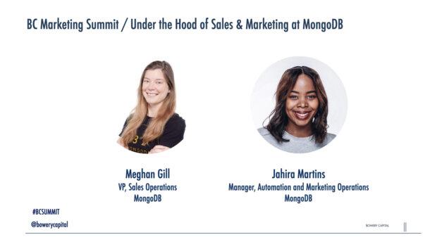 BC Marketing Summit 2020: Under the Hood of Sales and Marketing at MongoDB