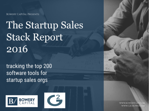 Announcing: The 2016 Sales Stack Survey
