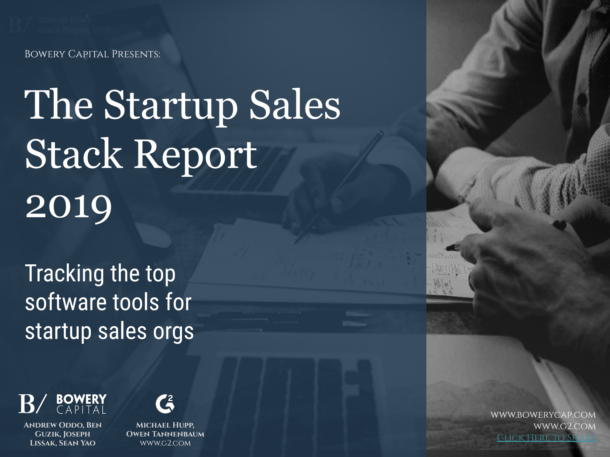The 2019 Startup Sales Stack Report
