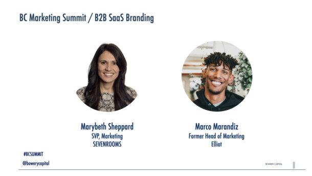 BC Marketing Summit 2020: B2B SaaS Branding