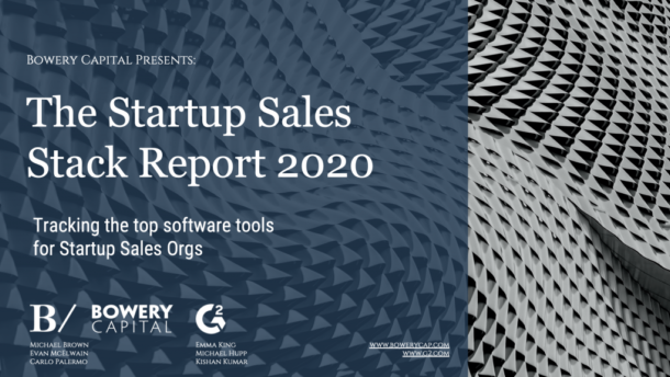 The 2020 Startup Sales Stack Report