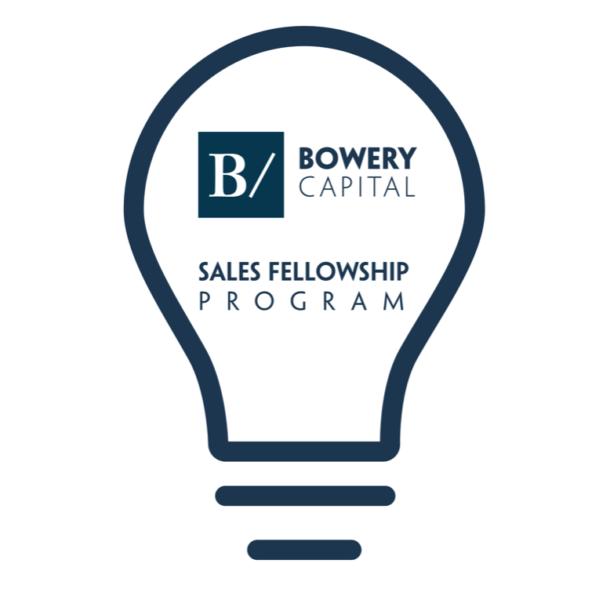 Bowery Capital Sales Fellowship Program: Enabling the Next Generation of Undergraduate Entrepreneurs